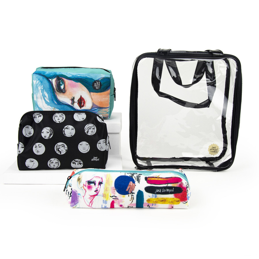 Open & Shut Case Storage Pouches & Tote from Making Faces by Jane Davenport