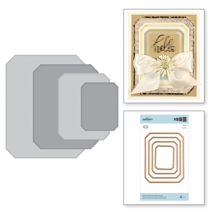 Gilded Nested Rectangle Die Set Etched Dies The Gilded Age by Becca Feeken