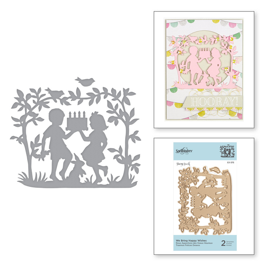 Shapeabilities We Bring Happy Wishes Etched Dies Happy by Sharyn Sowell