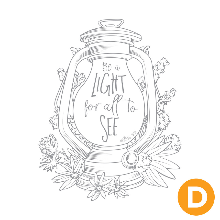 Be a Light Artist Trading Stamp