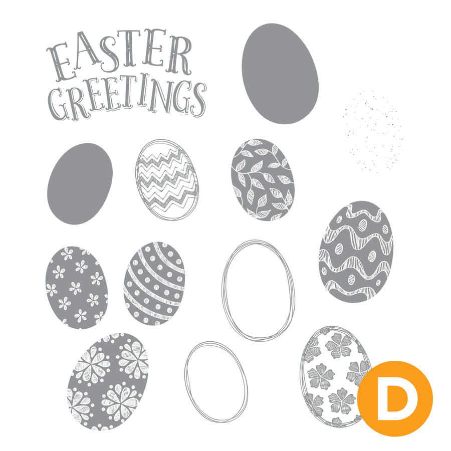 Fancy Eggs Stamp Set