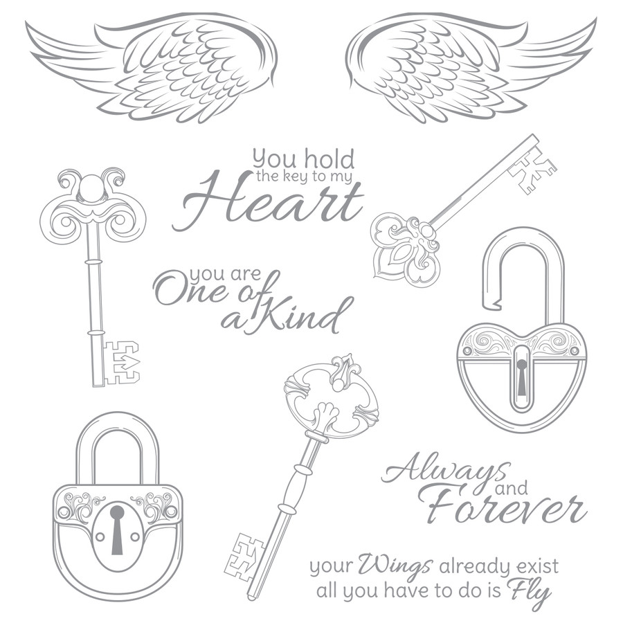 Key to My Heart - Stamp of the Month Club