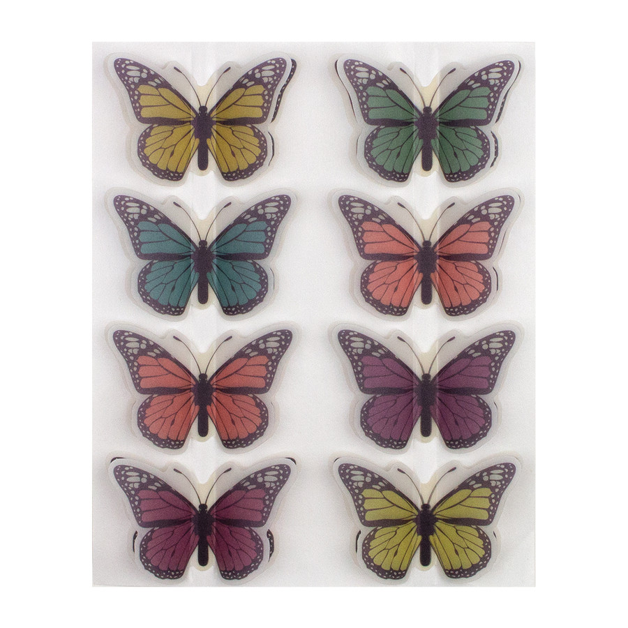 Relax & Enjoy Vellum Butterfly Stickers - Card Kit of the Month Extras