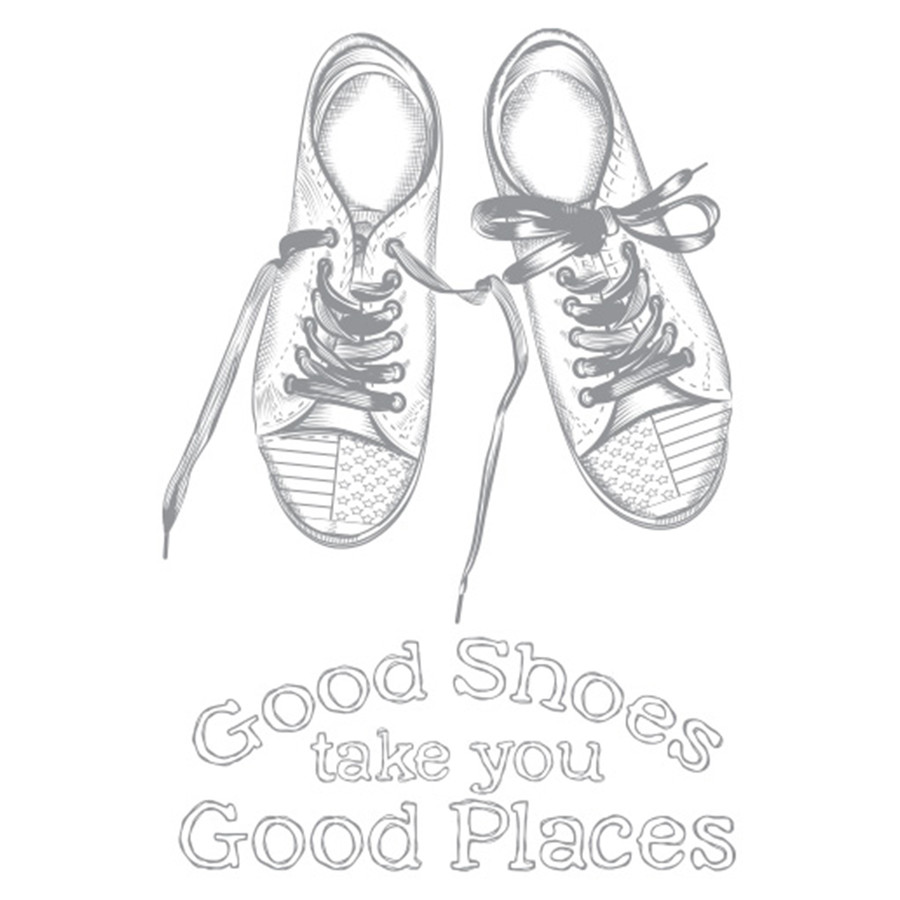 Traveling Shoes Artist Trading Stamp