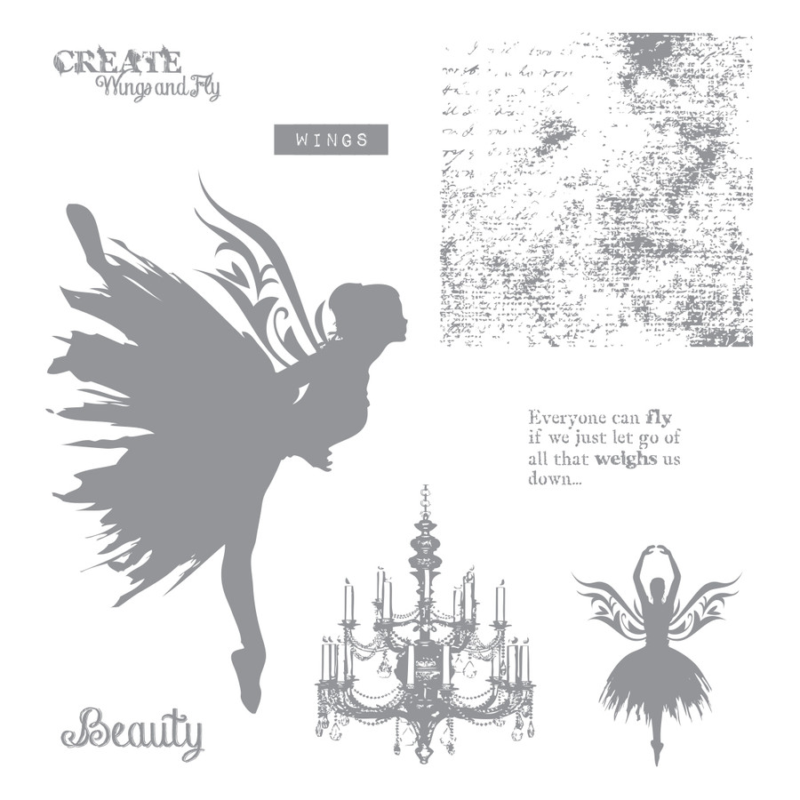 Beauty Wings Stamp Set