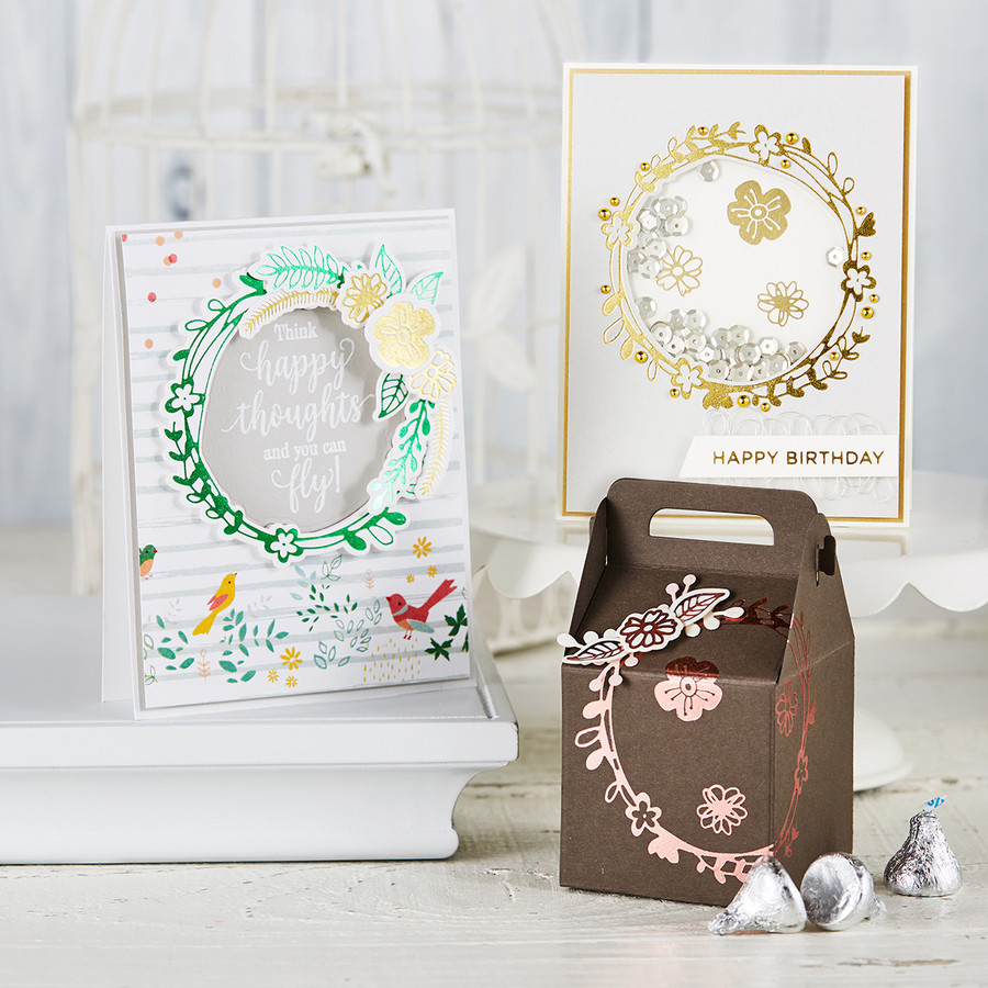 Wreath - Glimmer Hot Foil Kit of the Month - (Plates & Dies Only)