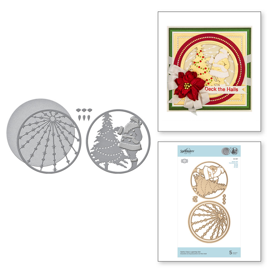 Shapeabilities Santa Claus Layering Set Etched Dies 3D Holiday Vignettes Collection by Becca Feeken