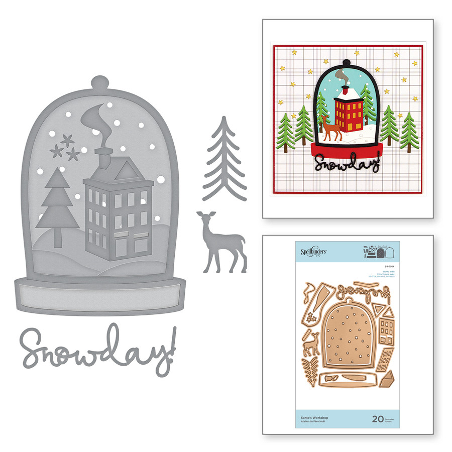 Shapeabilities Santa's Workshop Etched Dies Holiday 2019