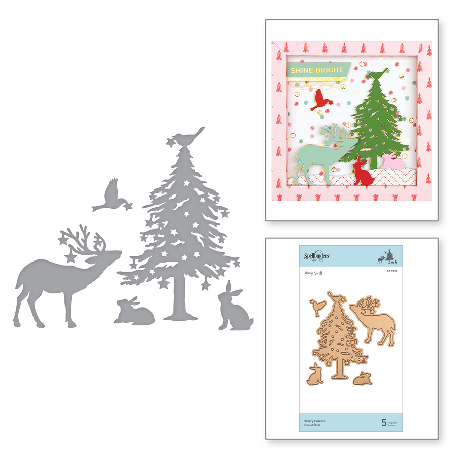 Shapeabilities Starry Forrest Etched Dies Sharyn Sowell Holiday 2019 Collection