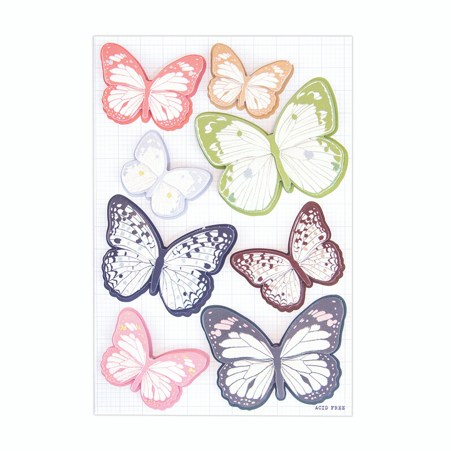 Stay Wild Layered Butterfly Stickers - Card Kit of the Month Extras