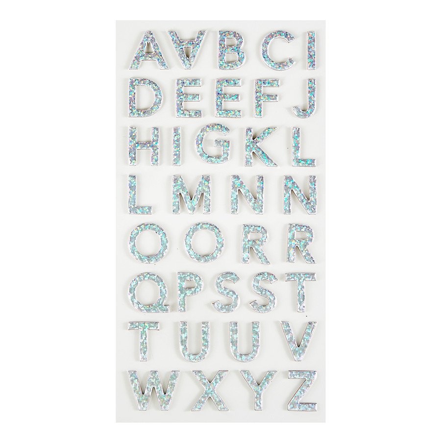 Luminous Alphabet Chipboard Stickers