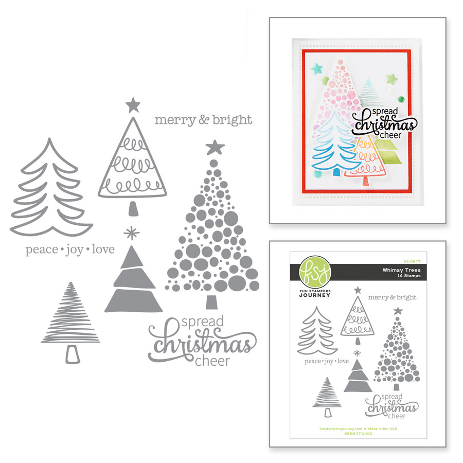 Whimsy Trees Stamp Set