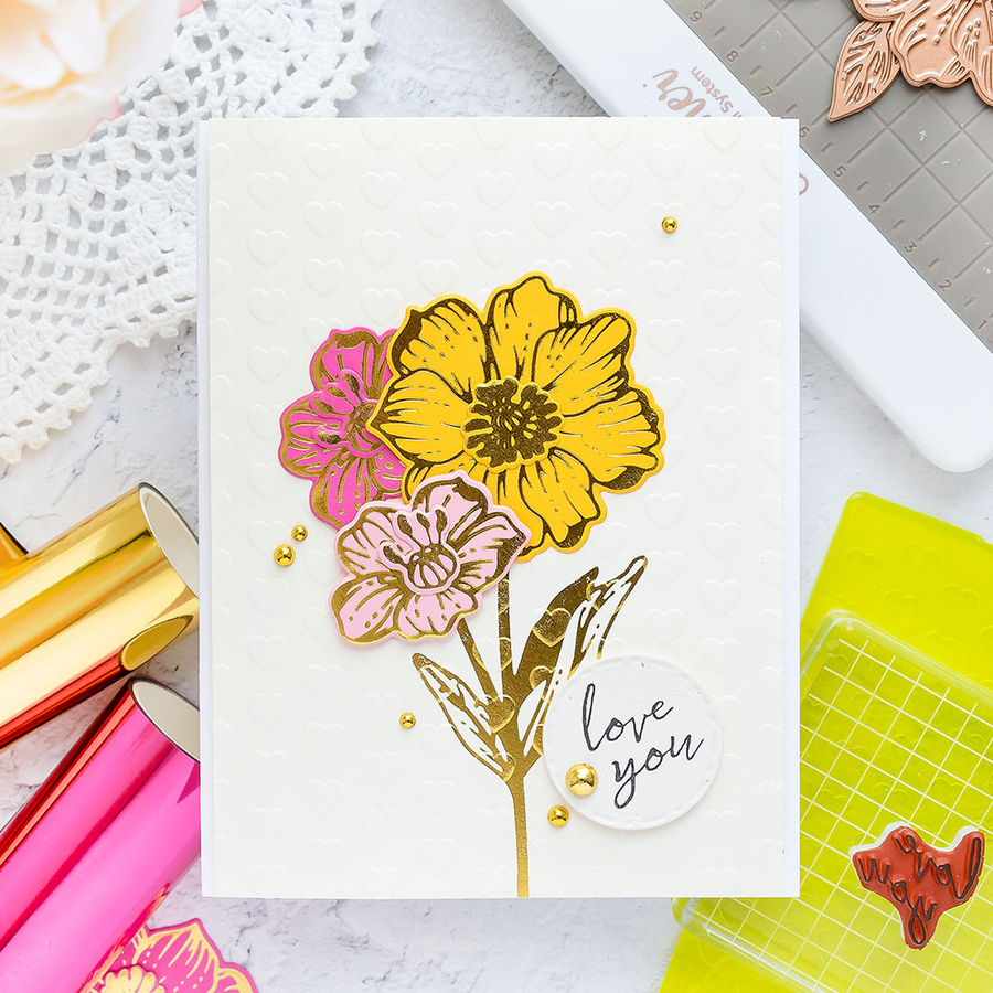 Radiant Flowers - Glimmer Hot Foil Kit of the Month - (Plates & Dies Only)