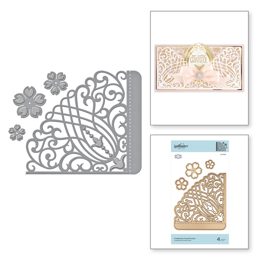 Shapeabilities Candlewick Grand Pocket Etched Dies Candlewick Sampler Collection by Becca Feeken
