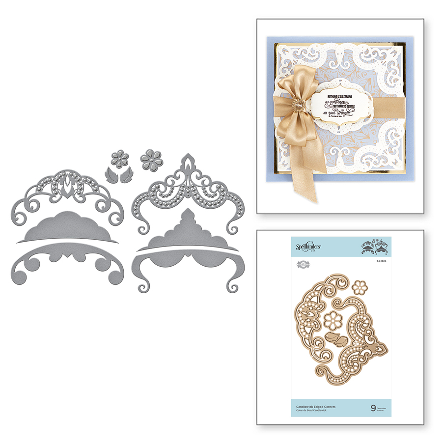 Shapeabilities Candlewick Edged Corners Etched Dies Candlewick Sampler Collection by Becca Feeken