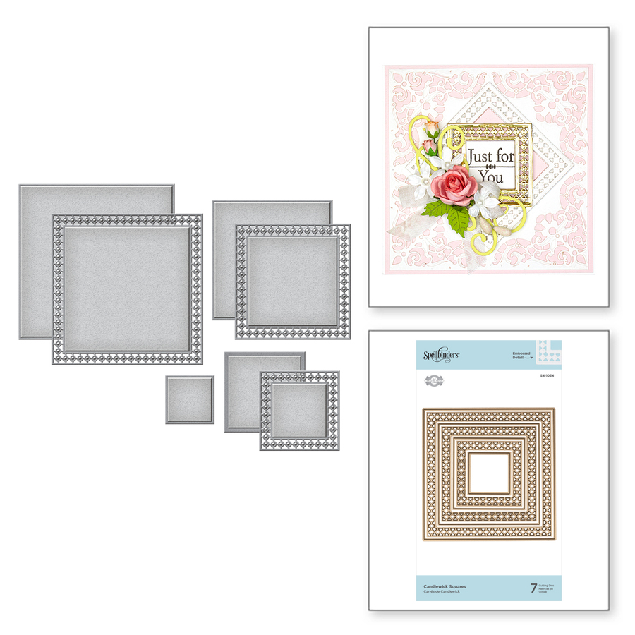Nestabilities Candlewick Squares Etched Dies Candlewick Classics Collection by Becca Feeken