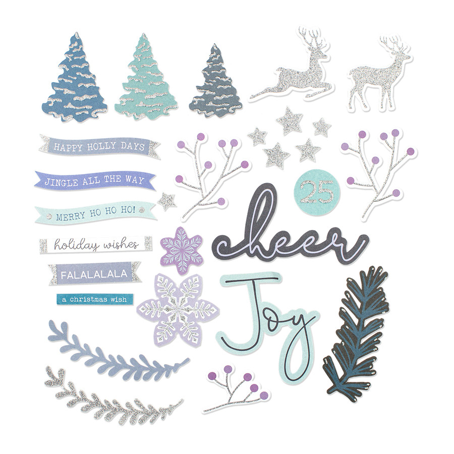 Sparkling Holidays Die Cut Shapes Set - Card Kit of the Month Extras