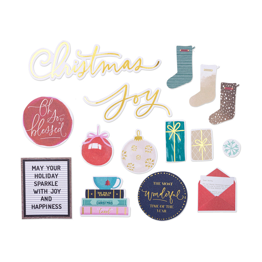 Christmas Wishes Die Cut Shapes Set - Card Kit of the Month Extras
