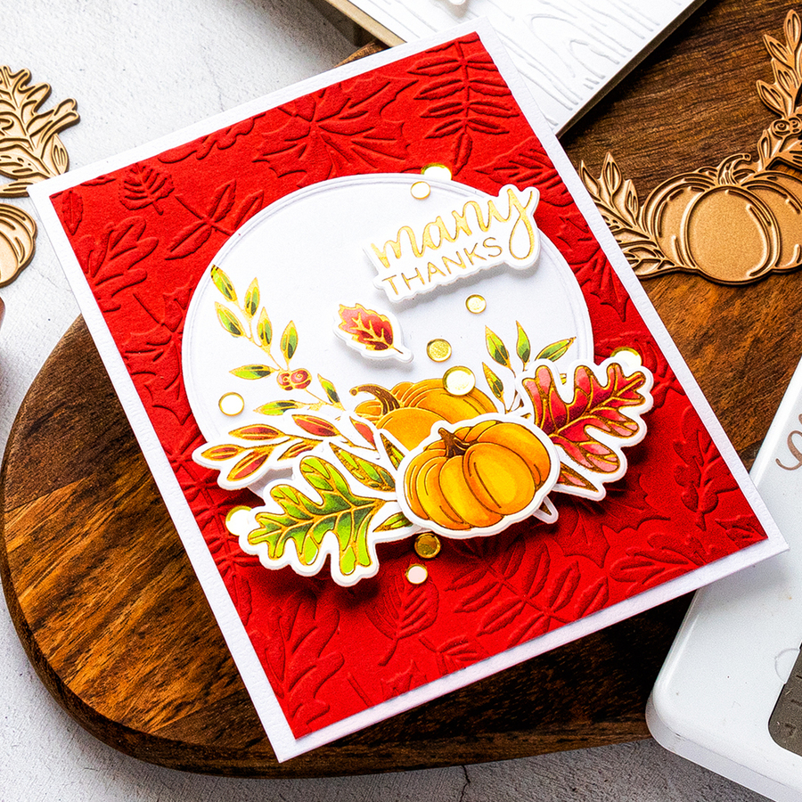 Sunset Harvest - Glimmer Hot Foil Kit of the Month - (Plates & Dies Only)