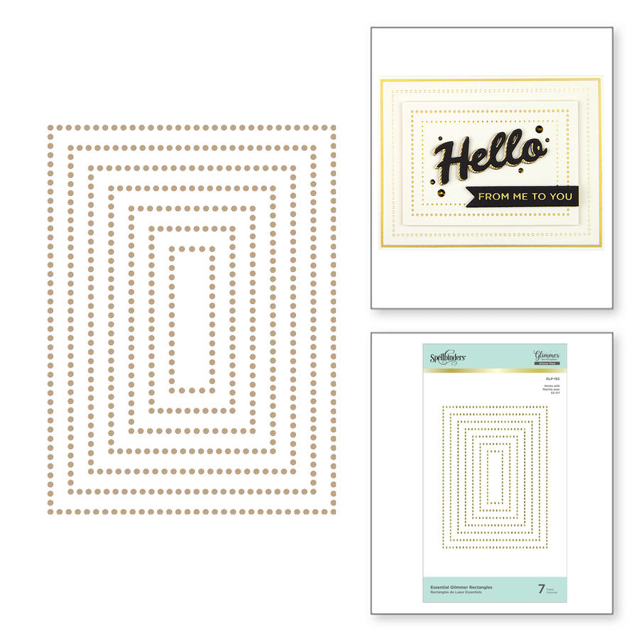 Essential Glimmer Rectangles Hot Foil Plates