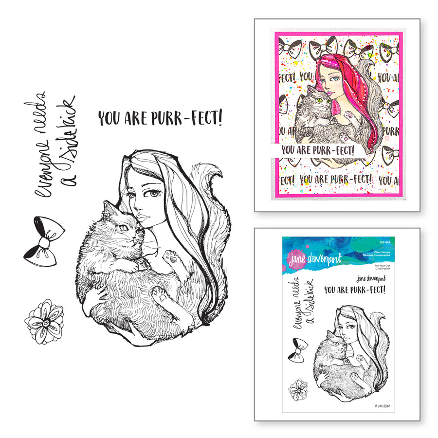 Purr-fect Cat Clear Stamp Set from Whimsical and Wild Collection by Jane Davenport