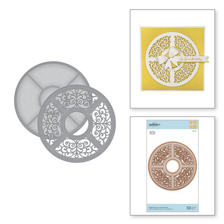 Filigree Drop In Circlet Doily Etched Dies from Dimensional Doilies by Becca Feeken