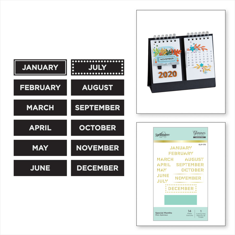 Special Month's Glimmer Hot Foil Plate set