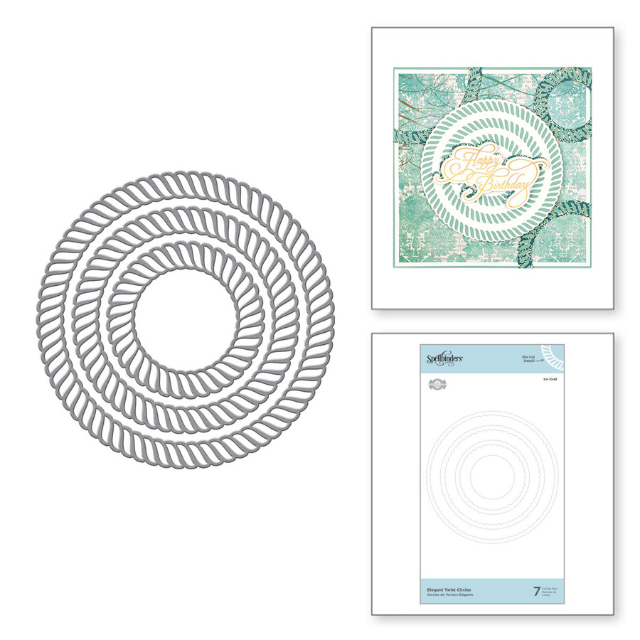 Elegant Twist Circles Etched Dies from the Elegant Twist Collection by Becca Feeken