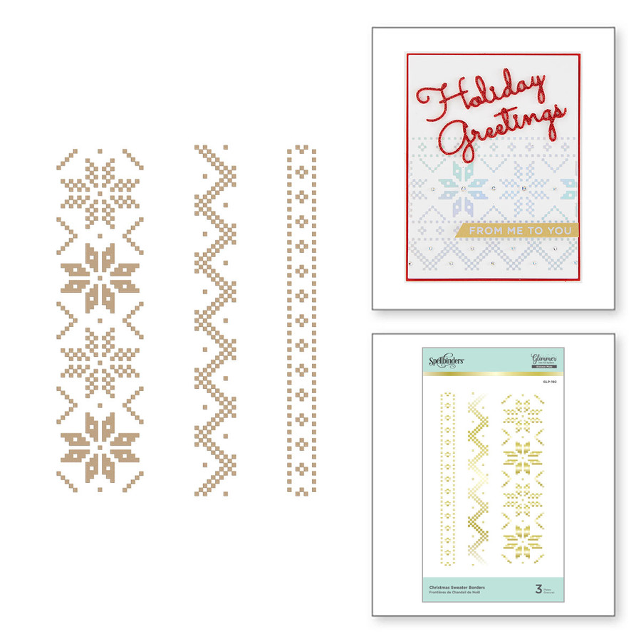 Spellbinders Glimmer Hot Foil Plate: Christmas Sweate Borders