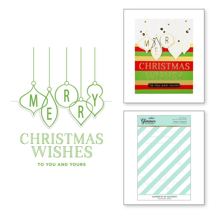 Merry Christmas Wishes - Glimmer Hot Foil Kit of the Month Club (Plates Only)