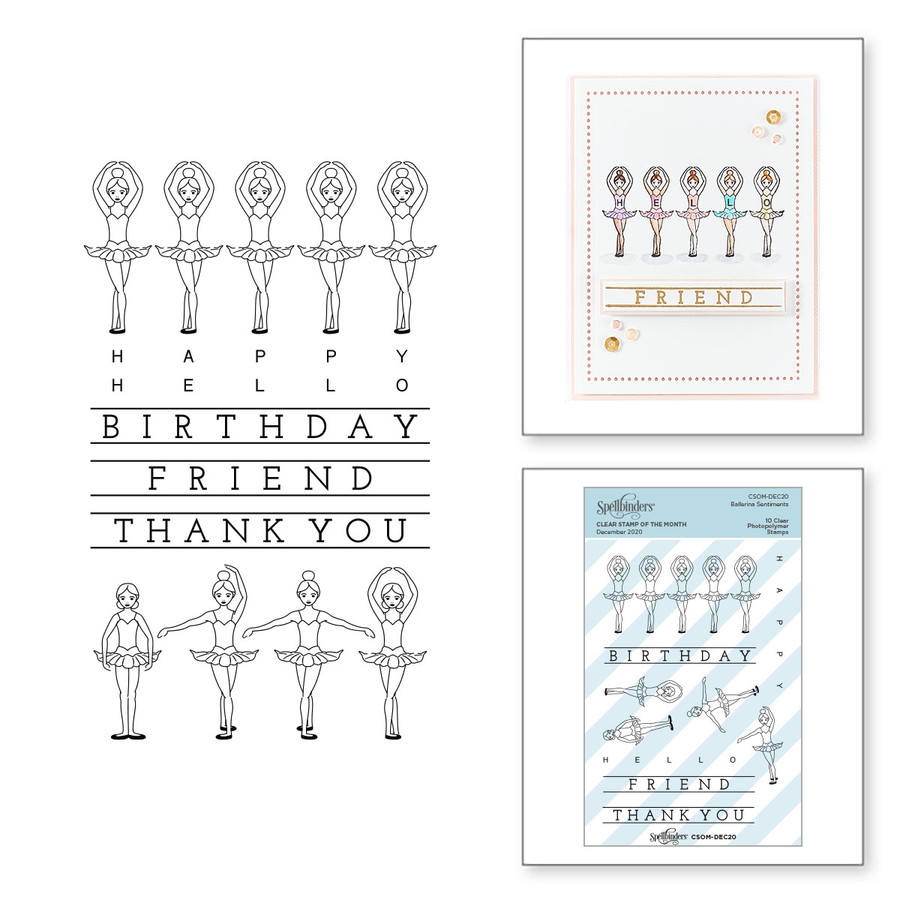 Ballerina Sentiments - Clear Stamp of the Month Club
