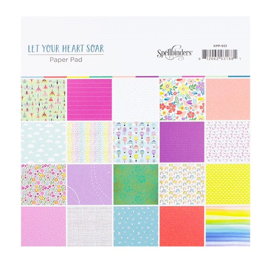 Let Your Heart Soar Paper Pad- Card Kit of the Month Extras