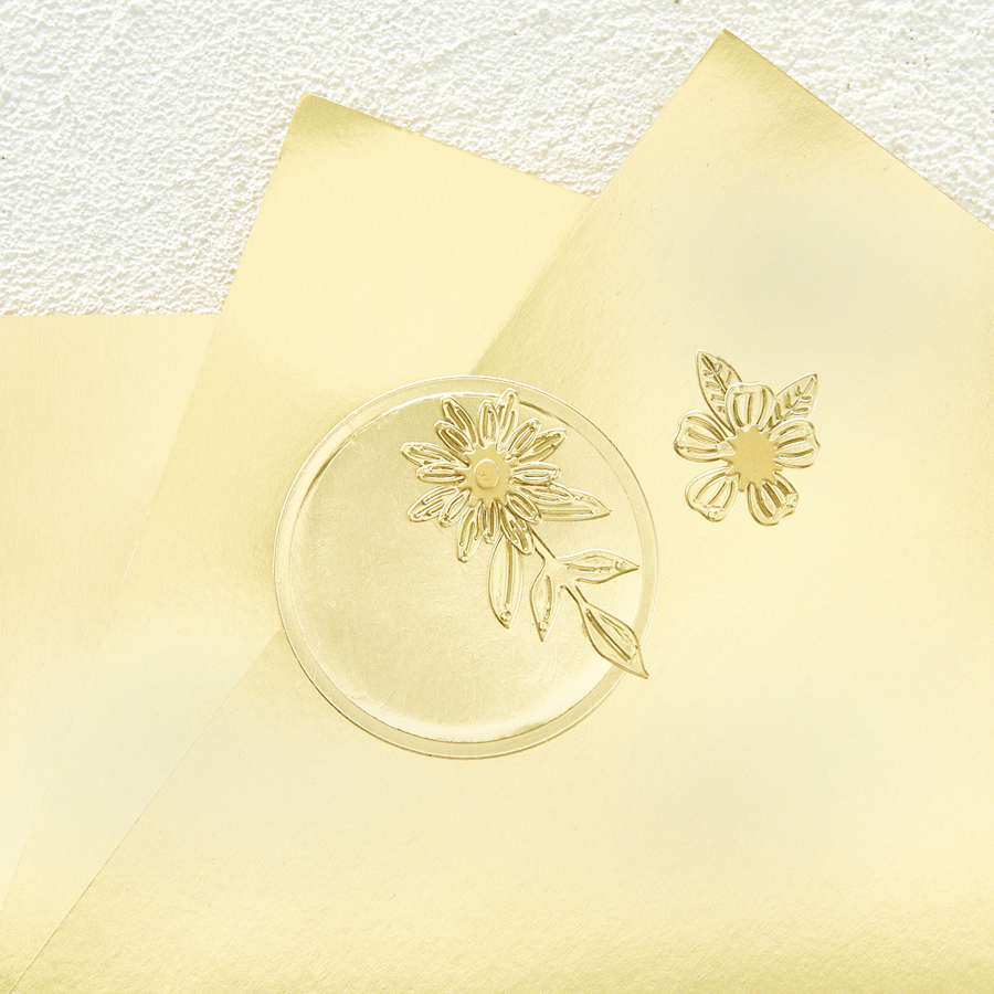 """Mirror Gold Cardstock 8 1/2"""" x 11 - 10 Pack"""