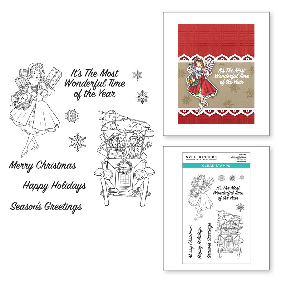 Vintage Holidays Clear Stamp Set from the Christmas Traditions Collection