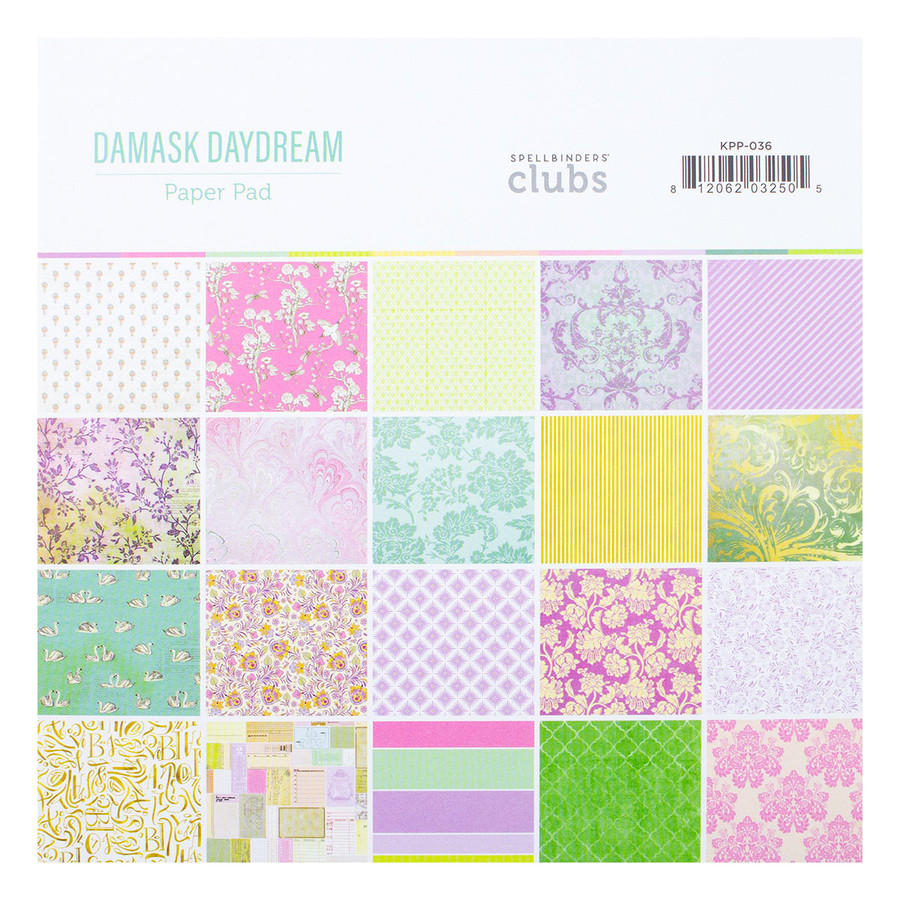 Damask Daydream Paper Pad - Card Kit of the Month Extras