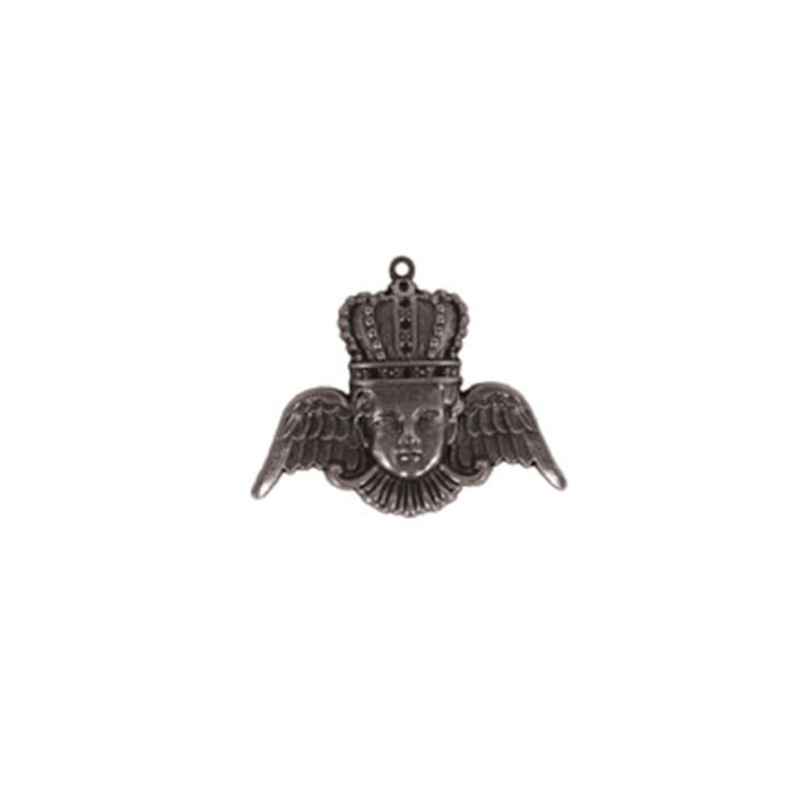 A Gilded Life Crowned Angel - Silver Pendant