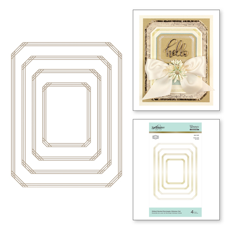 Gilded Nested Rectangle Glimmer Set Glimmer Hot Foil Plate The Gilded Age by Becca Feeken