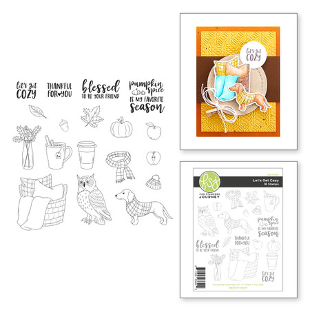 Let's Get Cozy Clear Photopolymer Stamp Set from the FSJ Halloween & Fall 2020 Collection