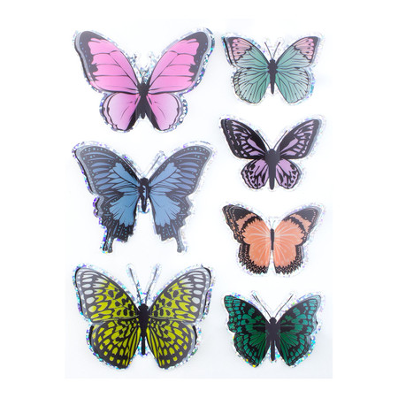 Around the World Layered Butterfly Stickers - Card Kit of the Month Extras