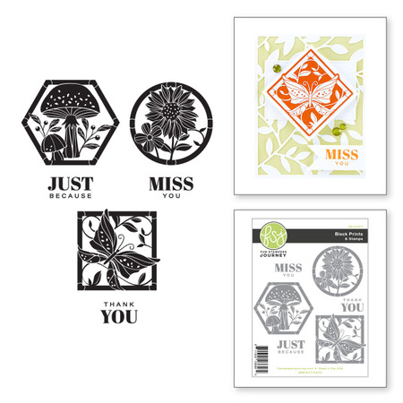 Block Prints Stamp Set from the FSJ Buzzworthy Collection