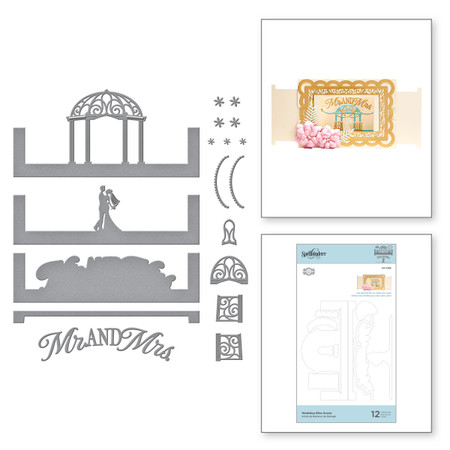 Wedded Bliss Scene Etched Dies from Make a Scene Collection by Becca Feeken