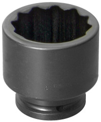 "1 5/8"" Williams 1 1/2"" Drive Standard Impact Socket - 12 Pt"