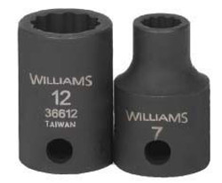 "10MM Williams 3/8"" Dr Shallow Impact Socket 12 Pt - 36610"