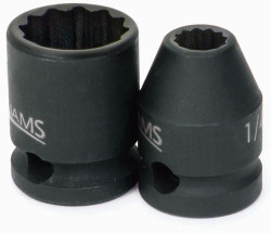 "3/8"" Williams 3/8"" Dr Shallow Impact Socket 12 Pt - 35312"