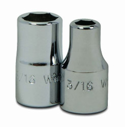 "1/8"" Williams 1/4"" Dr Shallow Socket 6 Pt - M-604"