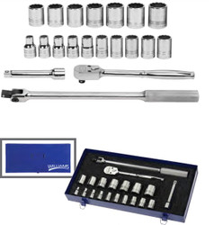 """20 Piece Williams 1/2"""" Dr Socket and Drive Tool Set - JHWMSS-20FTB"""