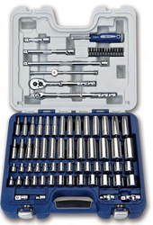 """79 Piece Williams 3/8"""" Dr Deluxe Socket and Drive Tool Set - JHW50607B"""