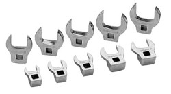 """10 Piece Williams 3/8"""" Dr Crowfoot Wrenche On Clip Rails - JHWWSBCOM-10"""
