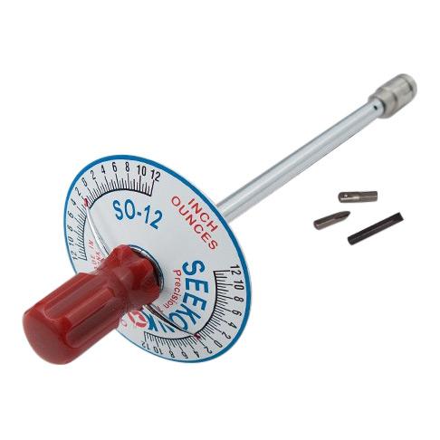 Seekonk 1/4'' Dr 0-12 Inch Ounce Vertical Torque Gauge Screwdriver S0-12