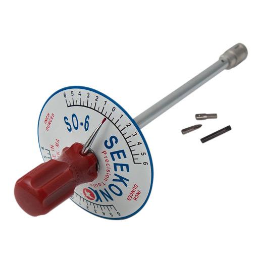 Seekonk 1/4'' Dr 0-6 Inch Ounce Vertical Torque Gauge Screwdriver S0-6
